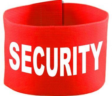 größenverstellbare Klett-Armbinde mit SECURITY / 10 cm Höhe