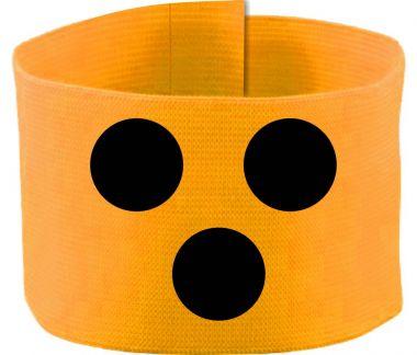 größenverstellbare Klett-Armbinde mit BLINDENPUNKTEN / 10 cm Höhe
