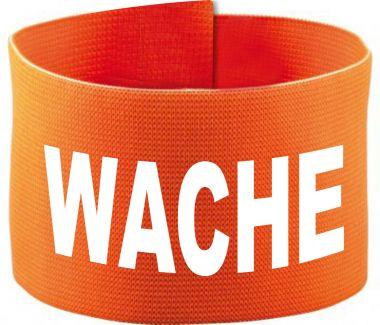 größenverstellbare Klett-Armbinde mit WACHE / 10 cm Höhe