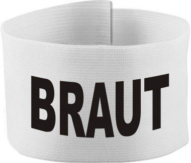 größenverstellbare Klett-Armbinde mit BRAUT / 10 cm Höhe