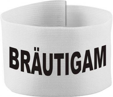 größenverstellbare Klett-Armbinde mit BRÄUTIGAM / 10 cm Höhe