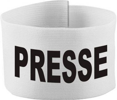 größenverstellbare Klett-Armbinde mit PRESSE / 10 cm Höhe