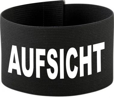größenverstellbare Klett-Armbinde mit AUFSICHT / 10 cm Höhe
