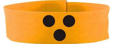 größenverstellbare Klett-Armbinde BLINDENPUNKTE / 5 cm Höhe