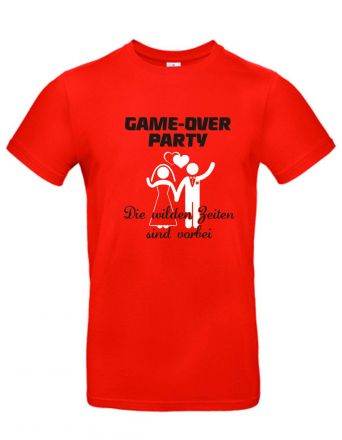 Shirt Game over Party - die wilden Zeiten sind vorbei