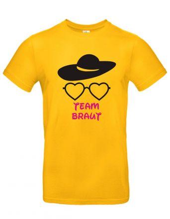 Shirt Team Braut (mit Brille und Hut)