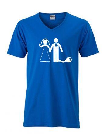 Shirt Hochzeitspaar mit Kugel am Bein