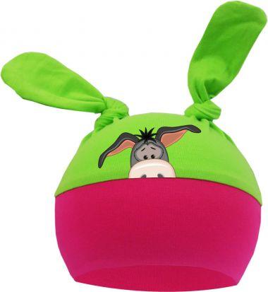 2-Zipfel Baby Mütze Multicolor Sweet Animals ESEL