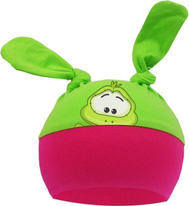 2-Zipfel Baby Mütze Multicolor Sweet Animals Frosch