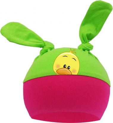 2-Zipfel Baby Mütze Multicolor Sweet Animals GÄNSEKÜCKEN