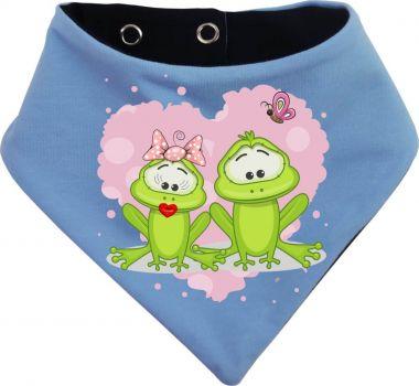 Baby Wende-Halstuch Multicolor Sweet Animal Paar Frosch