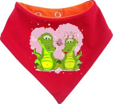 Baby Wende-Halstuch Multicolor Sweet Animal Paar Krokodil