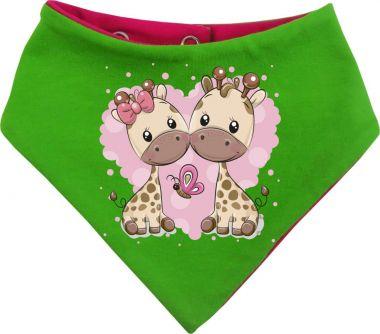 Baby Wende-Halstuch Multicolor Sweet Animal Paar Giraffe
