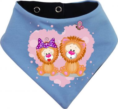 Baby Wende-Halstuch Multicolor Sweet Animal Paar Löwe