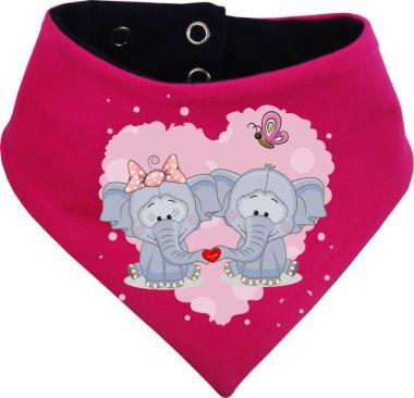 Baby Wende-Halstuch Multicolor Sweet Animal Paar Elefant