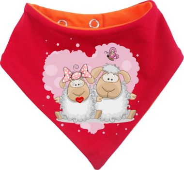 Baby Wende-Halstuch Multicolor Sweet Animal Paar Schaf