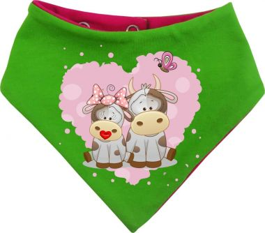 Baby Wende-Halstuch Multicolor Sweet Animal Paar Kuh