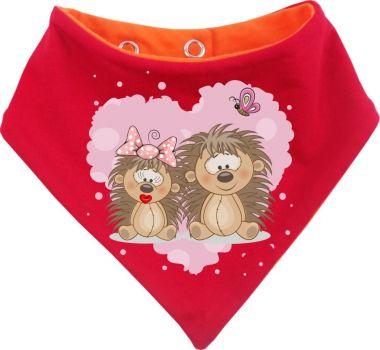 Baby Wende-Halstuch Multicolor Sweet Animal Paar Igel
