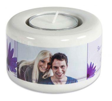 Keramik Kerzen- Teelichthalter, Höhe 50 mm