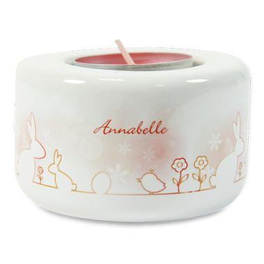 Keramik Kerzen- Teelichthalter, Farbe Cremeweiß, Größe Ø 80 mm, Höhe 50 mm