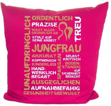 Kissen 40x40 cm Baumwolle Sternzeichen Jungfrau