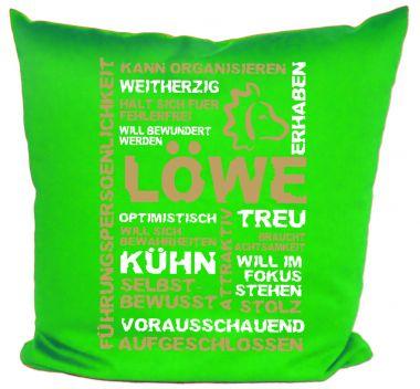 Kissen 40x40 cm Baumwolle Sternzeichen Löwe