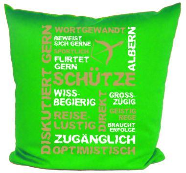 Kissen 40x40 cm Baumwolle Sternzeichen Schütze