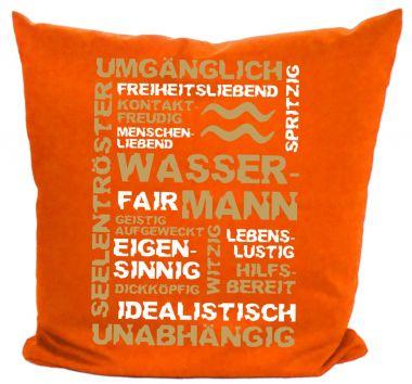 Kissen 40x40 cm Baumwolle Sternzeichen Wassermann