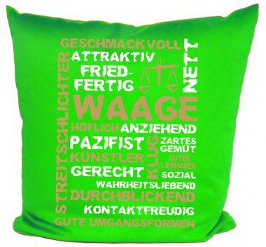 Kissen 40x40 cm Baumwolle Sternzeichen Waage