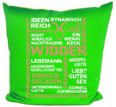 Kissen 40x40 cm Baumwolle Sternzeichen Widder
