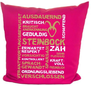Kissen 40x40 cm Baumwolle Sternzeichen Steinbock
