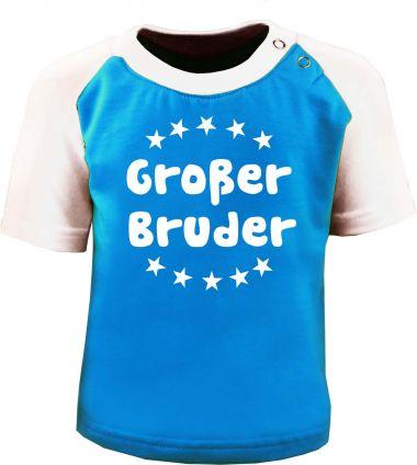 Baby und Kinder Kurzarm Baseball T-Shirt -  Großer Bruder -