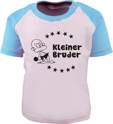 Baby und Kinder Kurzarm Baseball T-Shirt -  Kleiner Bruder -