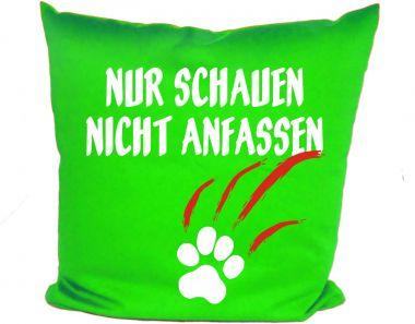 Hunde Kissen 40x40 cm Nur schauen nicht anfassen und Namen