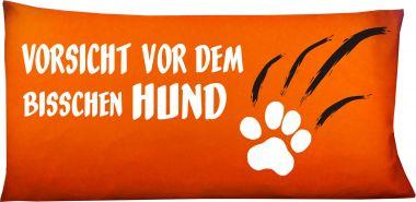 Hunde Kissen 80 x 40 cm Vorsicht vor dem bisschen Hund und Namen