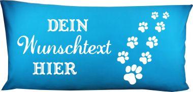 Hunde Kissen 80 x 40 cm Design 6 Pfoten und Namen