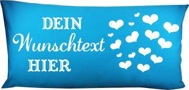 Hunde Kissen 80 x 40 cm Design 1 Herzen und Namen