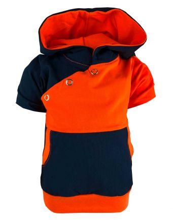 Kinder Kaputzen Kurzarm Shirt Kairo mit Bauchtasche gestreift