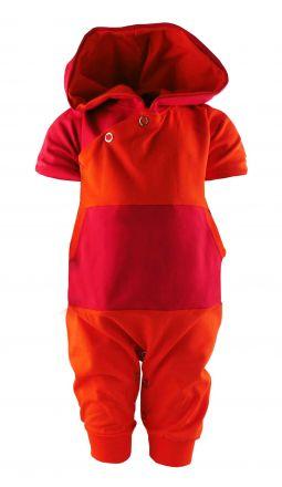 Baby Kurzarm Kaputzen Overall Kairo gestreift