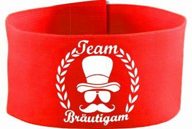 größenverstellbare Klett-Armbinde 10 cm Höhe mit Team Bräutigam