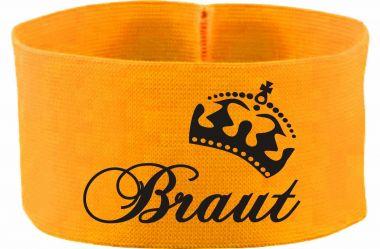 gummielastische Armbinde 10 cm Höhe Braut / Krone