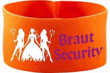 rubber elastic armband / mediaband with Braut Security/ 10 cm height