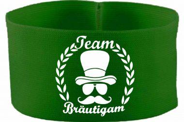 gummielastische Armbinde 10 cm Höhe mit Team Bräutigam