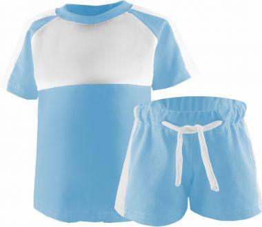 Baby Kaputzen Langarm Overall Kairo mit Bauchtasche Einhormotiv