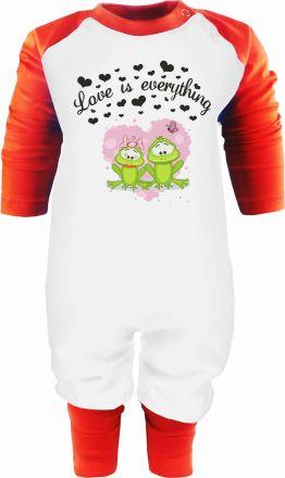 Baby Langarm Baseball Krabbelanzug Sweet Animals