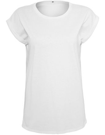 Ladies Organic Extended Shoulder Tee Shirt