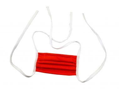 Mehrweg Stoff Mund & Gesichtsmaske mit Vlies / zum Binden / mit Wunschdruck