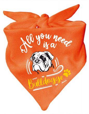 Hunde Dreiecks-Halstuch All you need is a Bulldogge