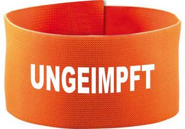 größenverstellbare Klett-Armbinde 10 cm Höhe mit UNGEIMPFT