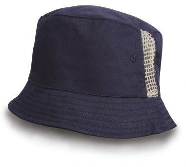 Sportlicher Hut mit Netzeinsatz
